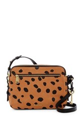 Fossil Piper Toaster Leather Crossbody Multi