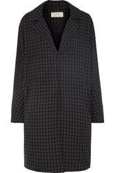 The Great Tour Checked Twill Coat Gray