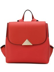 Emporio Armani Flap Top Backpack Red