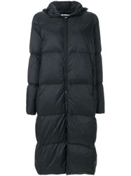 Ecoalf Long Puffer Coat Black