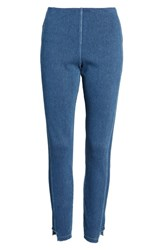 Lysse Step Hem Denim Leggings Mid Wash