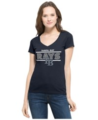'47 Brand Women's Tampa Bay Rays Speckle Flanker T Shirt Navy