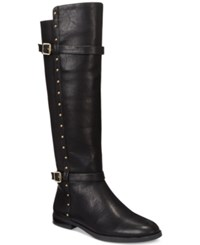 Inc International Concepts Ameliee Wide Calf Riding Boots Only At Macy's Women's Shoes Black