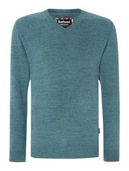 Barbour Barbane V Neck Jumper Blue