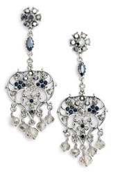 Badgley Mischka Women's Vintage Chandelier Earrings Silver