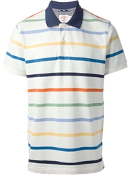 Brooks Brothers Striped Polo Shirt White