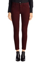 J Brand Women's 'Anja' Cuffed Crop Skinny Jeans Ox Blood