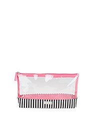 Saks Fifth Avenue Clear Make Up Zipped Pouch Pink