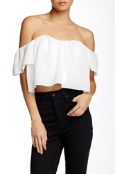 Bardot And Jarlo Wave Gypsy Ruffled Blouse White
