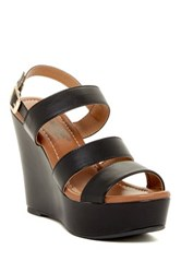 Elegant Footwear Summer Platform Wedge Sandal Black