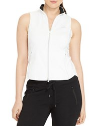 Lauren Ralph Lauren Plus Full Zip Mockneck Vest White