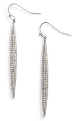 Vince Camuto Crystal Pave Linear Drop Earrings Silver Crystal
