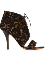 Givenchy Floral Lace Booties Black