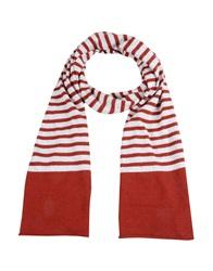 George J. Love Oblong Scarves Brick Red