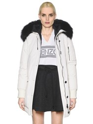 Kenzo Padded Nylon Parka With Murmansky Fur