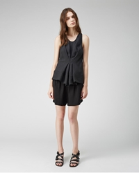 3.1 Phillip Lim Gathered Front Top Soft Black