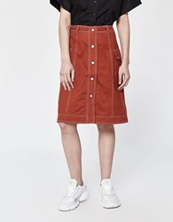 Stussy Clyde Reversible Skirt In Brick