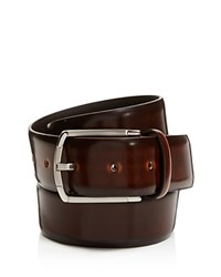 Canali Burnished Cordovan Leather Belt Brown