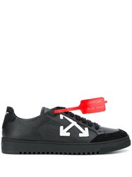 Off White Red Tag Trainers Black