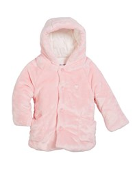 Mayoral Plush Faux Fur Hooded Jacket Size 2 12 Months Pink