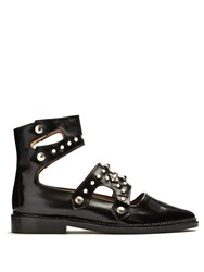 Toga Polido Stud Embellished Leather Flats Black