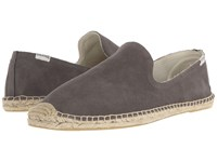Soludos Smoking Slipper Suede Dolphin Gray Slippers Taupe