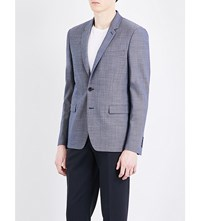 Sandro Tailored Fit Wool Blazer Blue