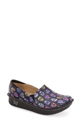 Women's Alegria 'Debra' Slip On Sugar Skulls Leather