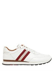 Bally Ashley Webbing Stripe Leather Sneakers