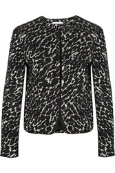 Alice Olivia Kidman Metallic Boucle Jacquard Jacket Black