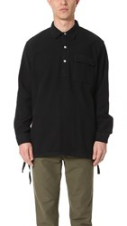 Our Legacy Ultimate Flannel Vented Popover Shirt Black