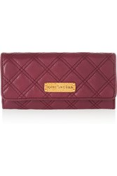 Marc Jacobs Quilted Textured Leather Wallet Purple
