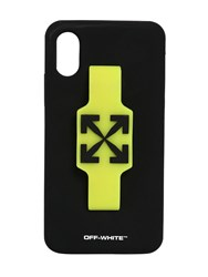 Off White Logo Iphone X Xs Cover W Finger Grip Black