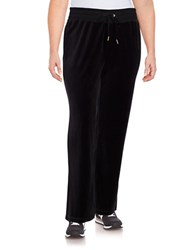 Calvin Klein Plus Velour Lounge Pants Black