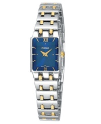 Pulsar Watch Women's Two Tone Stainless Steel Bracelet Peg363 Women's Shoes