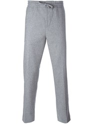 Msgm Cropped Track Pants Grey