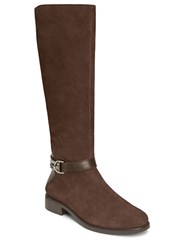 Aerosoles Ring Dish Suede Knee High Boots Brown