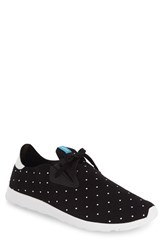 Native Men's Shoes 'Apollo' Sneaker Jiffy Black White Polka Dot