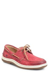 Born 'S B Rn Ocean Boat Shoe Red Leather
