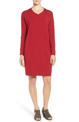 Eileen Fisher Women's V Neck Stretch Jersey Shift Dress