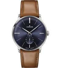 Junghans 027 3504.00 Meister Stainless Steel And Leather Watch Blue