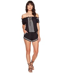 Rip Curl Far Out Romper Black Women's Jumpsuit And Rompers One Piece