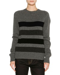 Tomas Maier Striped Cashmere Sweater Gray Gray Patterned