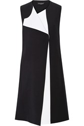 Narciso Rodriguez Color Block Wool And Silk Blend Vest Black