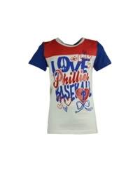 5Th And Ocean Girls' Philadelphia Phillies Love Baseball T Shirt