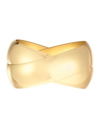Kenneth Jay Lane Shiny Golden Intertwined Bangles Set Women's