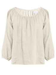 Velvet By Graham And Spencer Marcelle Cotton Gauze Top Cream