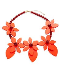 Kate Spade Lovely Lillies Statement Necklace Coral