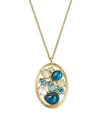 Ippolita 18K Yellow Gold Rock Candy Mixed Stone And Doublet Pendant Necklace In Raindrop 16 Gold Blue
