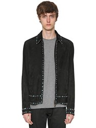Valentino Studded And Beaded Suede Shirt Jacket